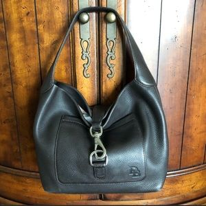 Dooney & Bourke Annalise Brown Leather Hobo Buckle